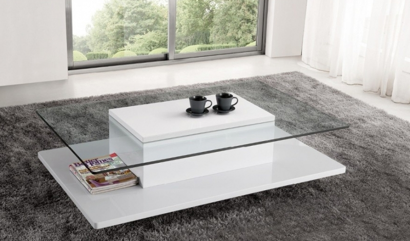 verre table basse