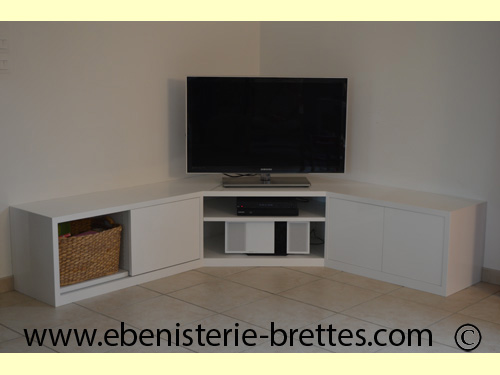 Meuble Angle Tv Blanc Idees De Decoration Interieure French Decor