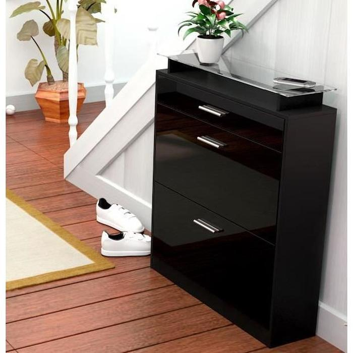 meuble chaussures noir 3 id es de d coration. Black Bedroom Furniture Sets. Home Design Ideas