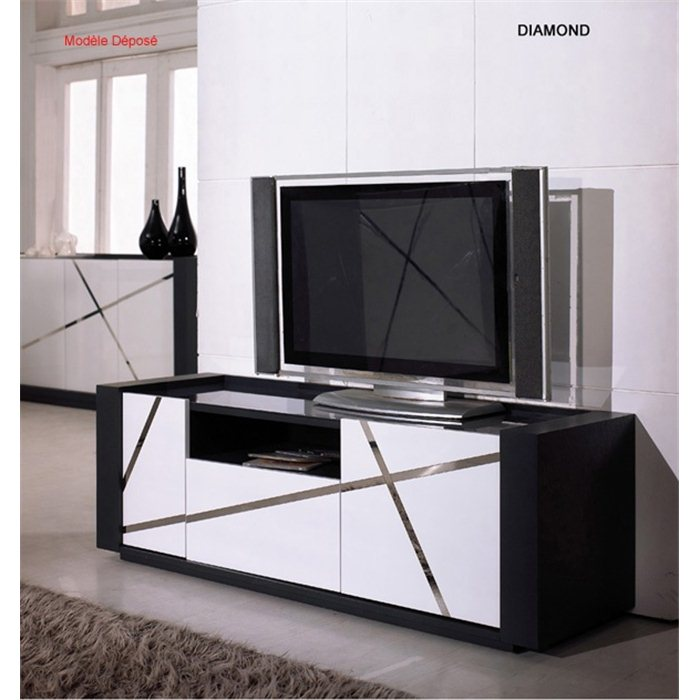 meuble tv design blanc et gris id es de d coration int rieure french decor. Black Bedroom Furniture Sets. Home Design Ideas