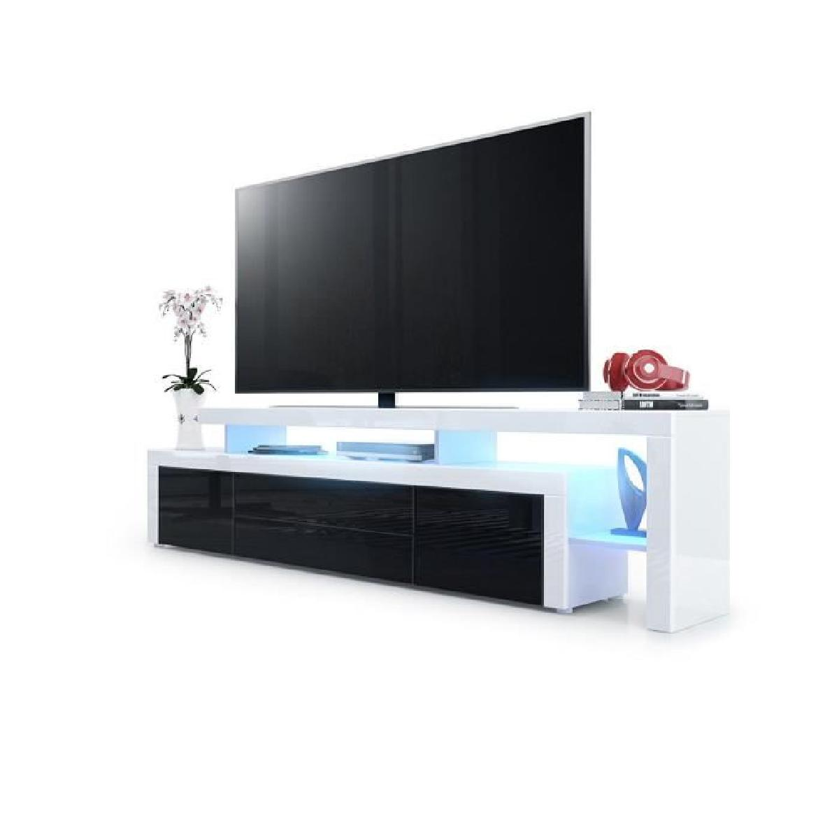 meuble tv noir led id es de d coration int rieure french decor. Black Bedroom Furniture Sets. Home Design Ideas