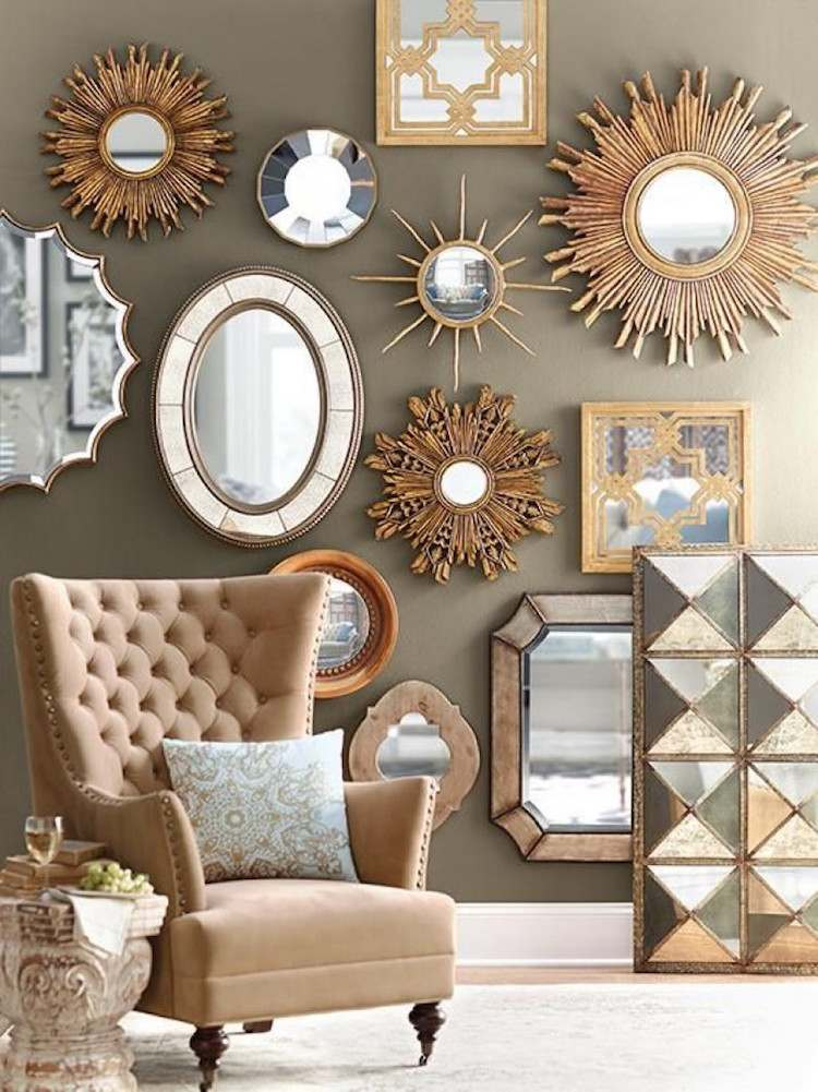 miroir mural d coratif id es de d coration int rieure french decor. Black Bedroom Furniture Sets. Home Design Ideas
