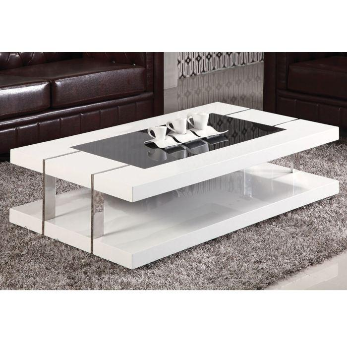 table basse blanc laqu et verre id es de d coration int rieure french decor. Black Bedroom Furniture Sets. Home Design Ideas