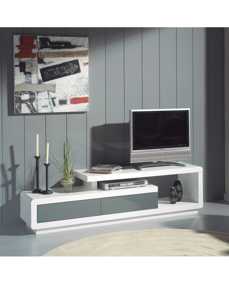 meuble tv moderne blanc id es de d coration int rieure french decor. Black Bedroom Furniture Sets. Home Design Ideas