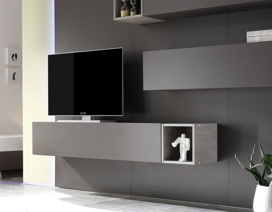Meuble tv a suspendre id es de d coration int rieure french decor - Meuble tv a suspendre ...