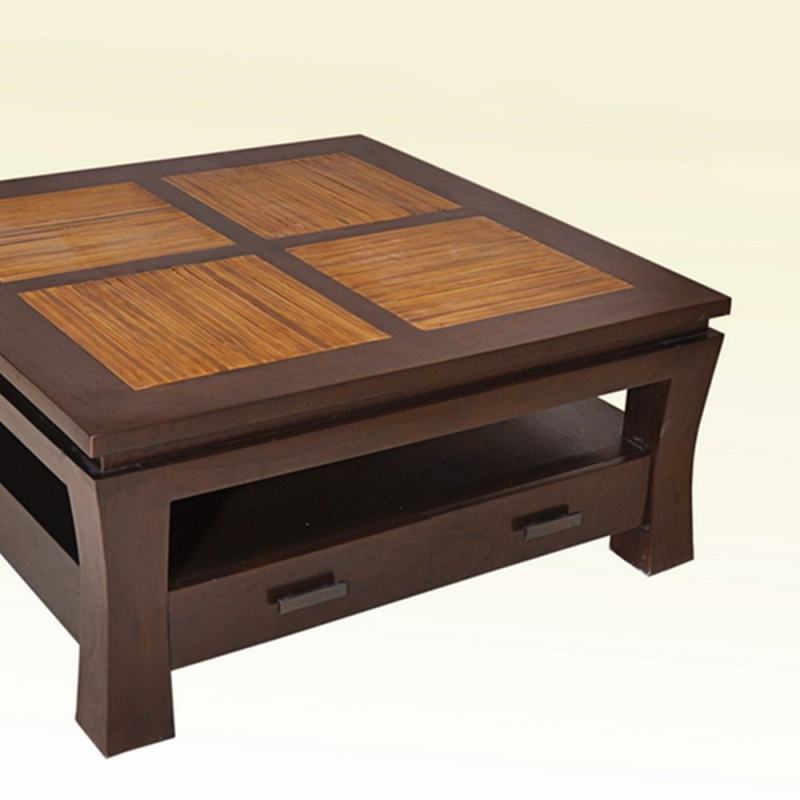 table basse bambou