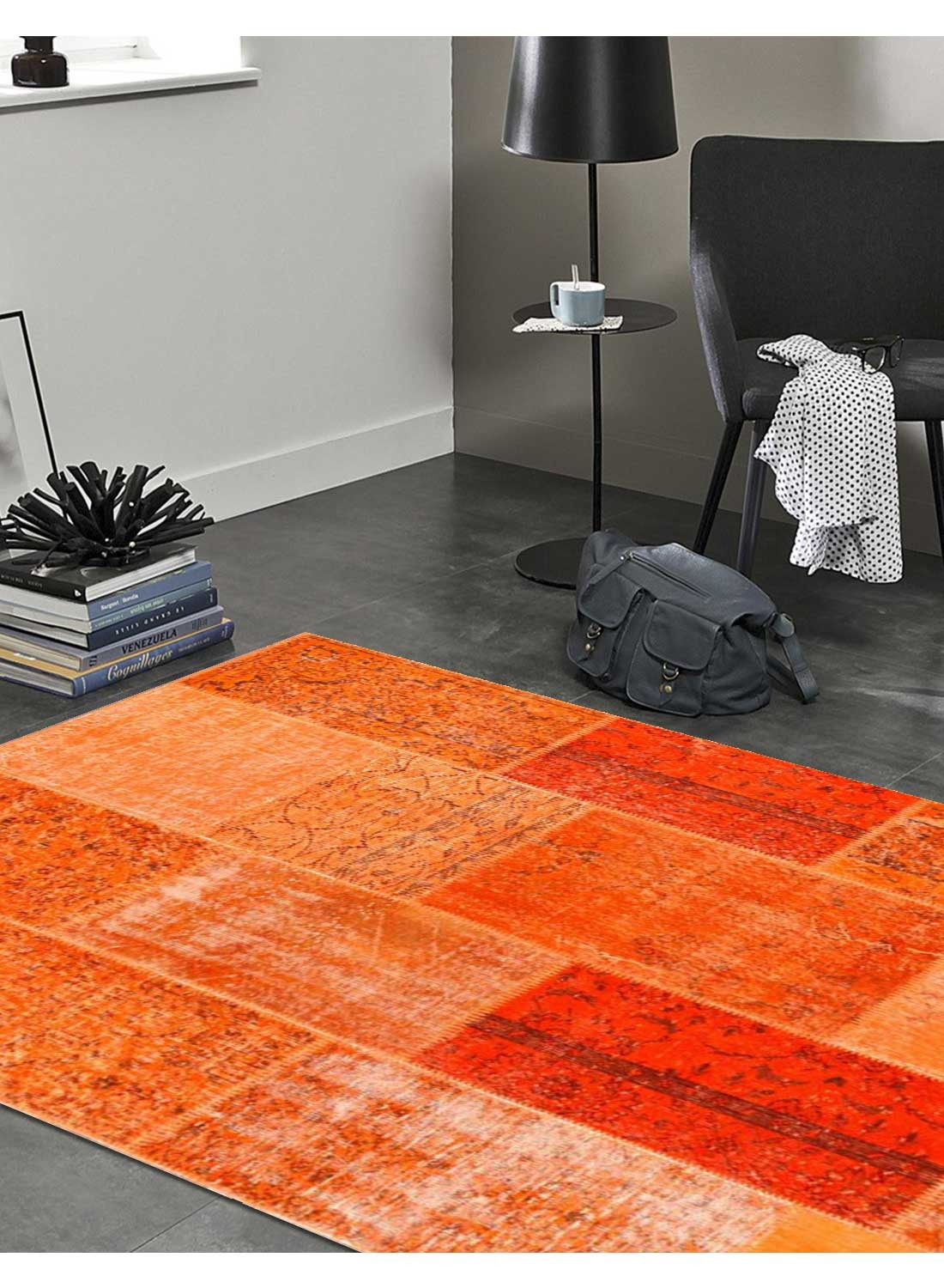 Captivant Tapis De Salon Orange