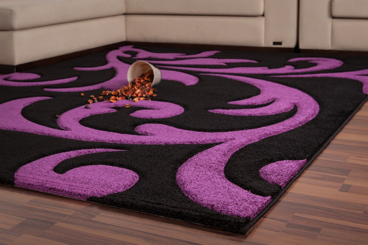 Awesome Tapis Moderne Violet Pictures - House Design ...
