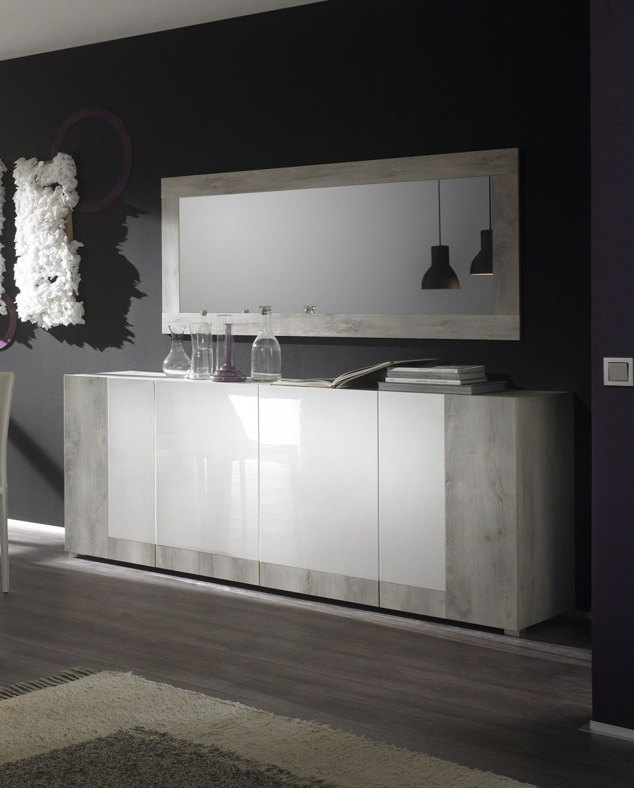 Stunning Buffet De Salle Gris Laque Contemporary - House Design ...