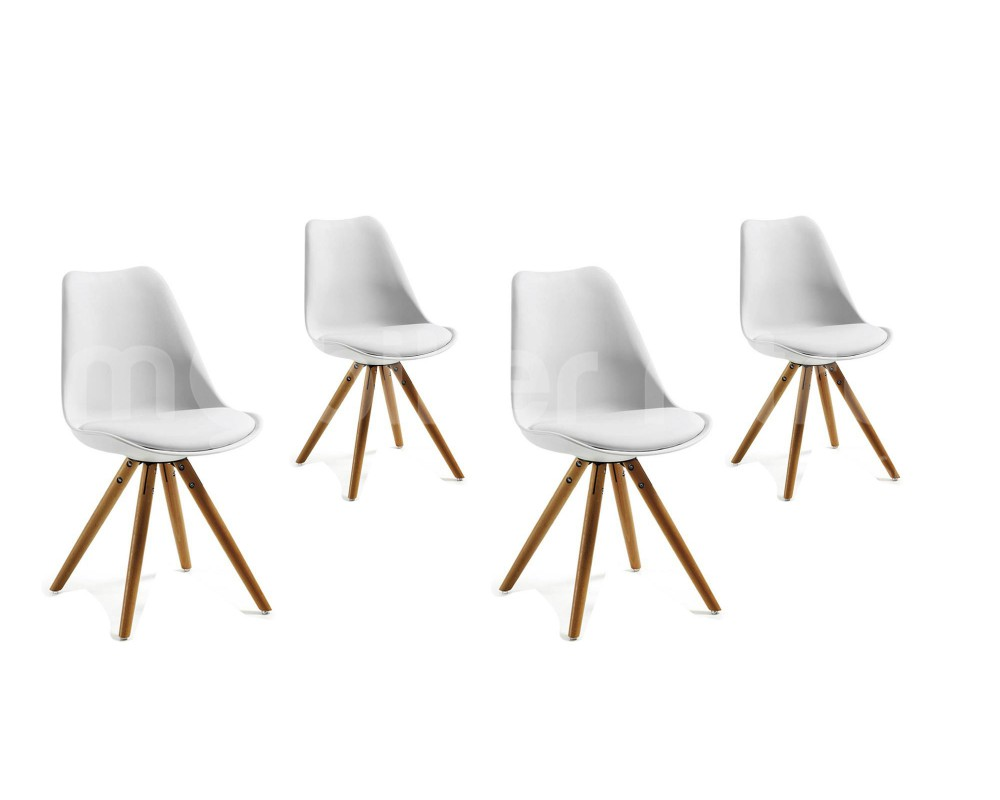 chaises blanches design salle manger