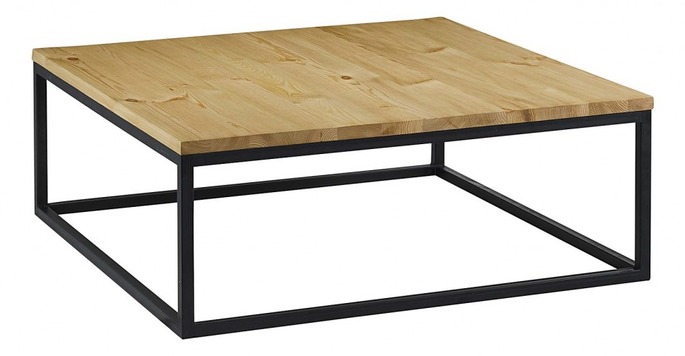 Table Basse Carree Bois Metal Idees De Decoration Interieure