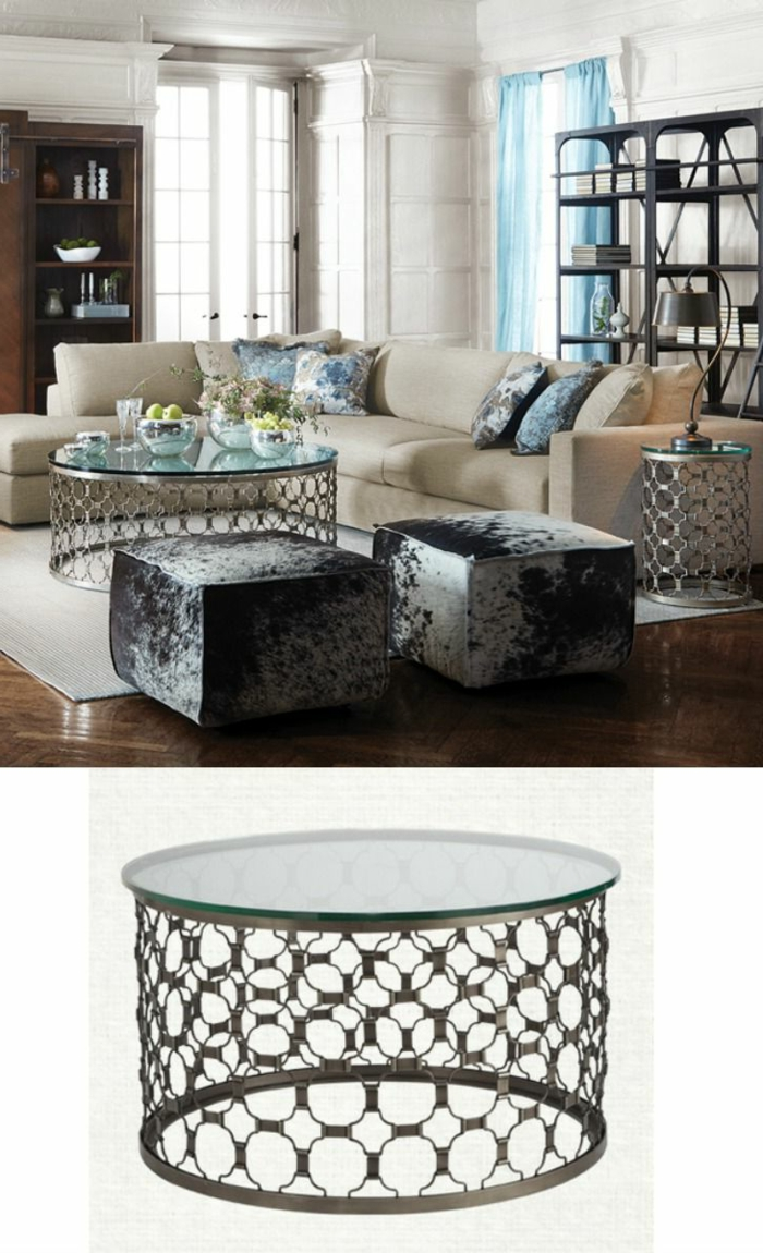 table basse ronde en verre design id es de d coration. Black Bedroom Furniture Sets. Home Design Ideas