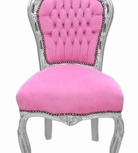 chaise baroque grise