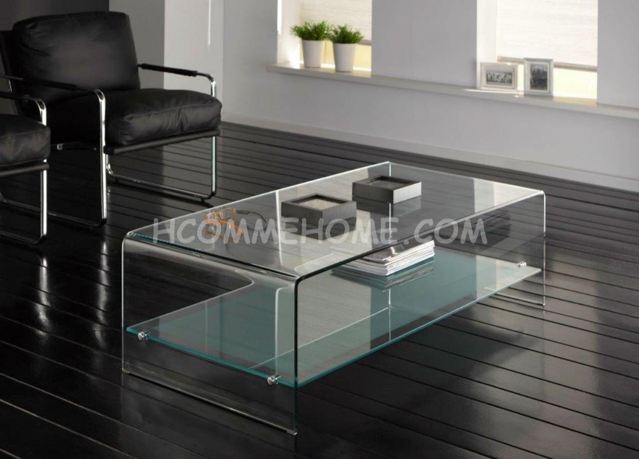 table basse de salon en verre rectangulaire id es de. Black Bedroom Furniture Sets. Home Design Ideas