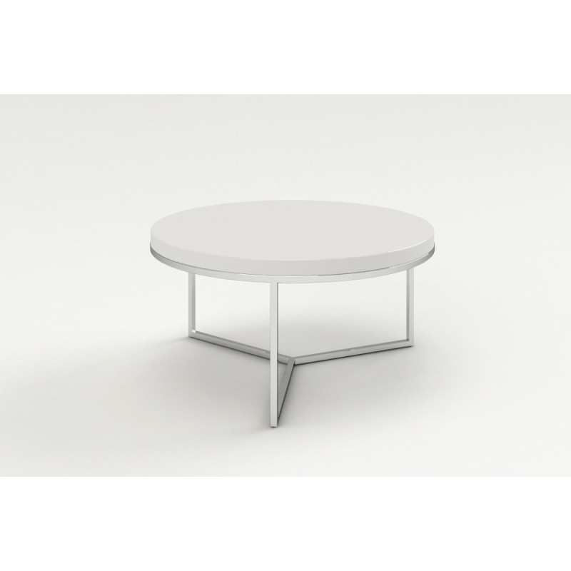 Table Basse Blanche Ronde.Table Basse Ronde Blanche Idees De Decoration Interieure