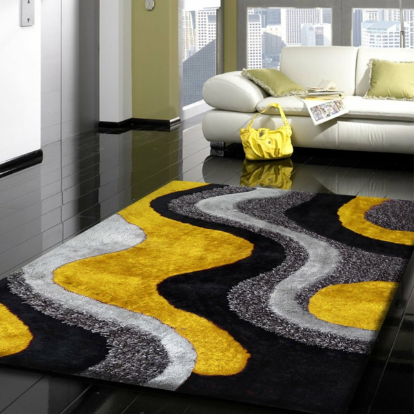 Tapis Jaune Et Gris Idees De Decoration Interieure