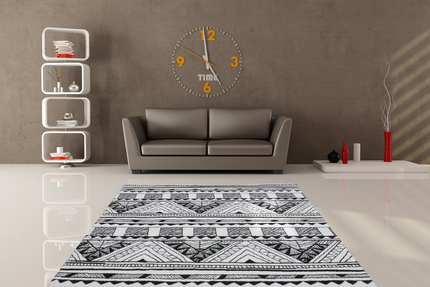 tapis de salon gris et blanc id es de d coration. Black Bedroom Furniture Sets. Home Design Ideas