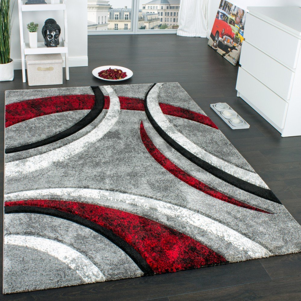 Tapis de salon rouge et gris id es de d coration int rieure french decor - Tapis de salon rouge ...