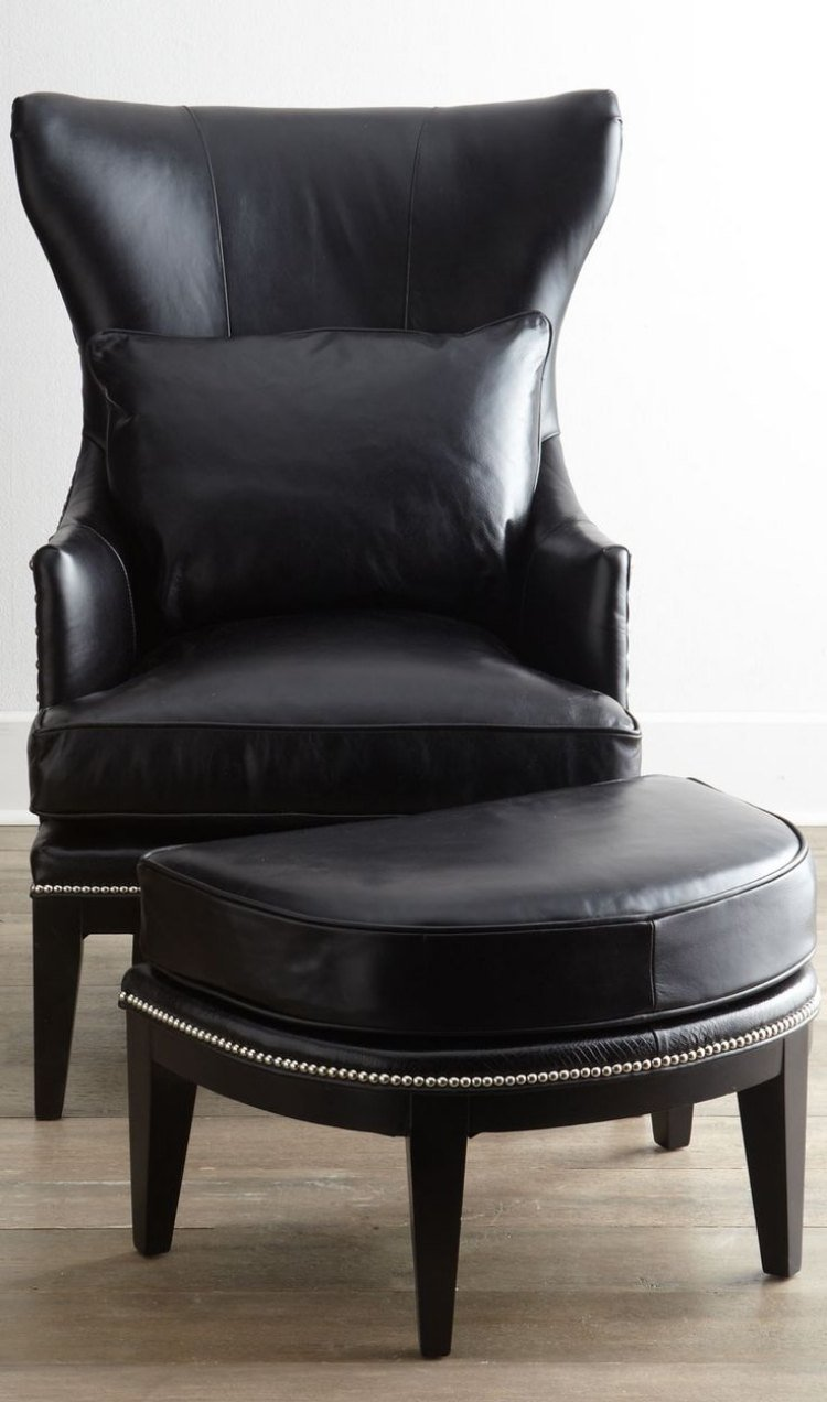 fauteuil bergere cuir