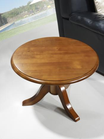 Table Basse Ronde Bois Massif Idees De Decoration