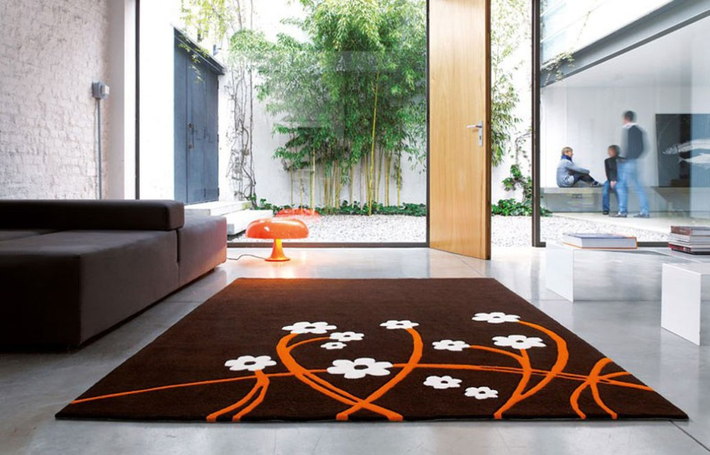 Tapis Marron Orange - onestopcolorado.com -