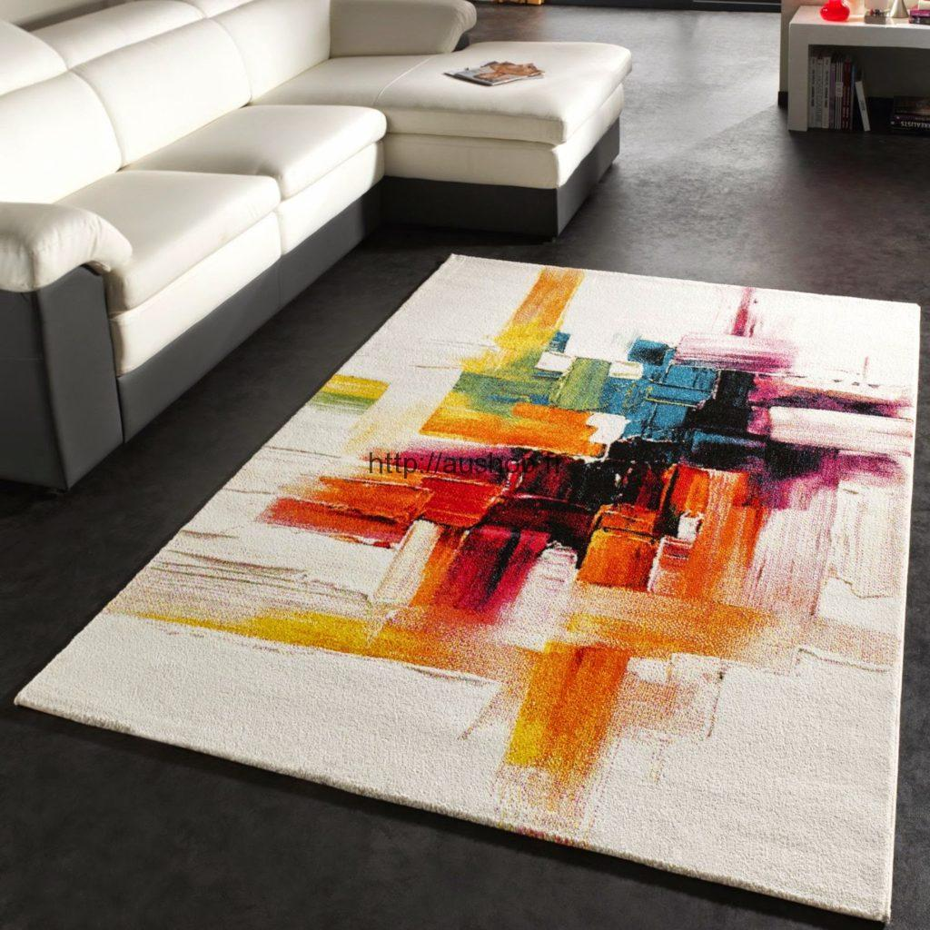 tapis salon contemporain