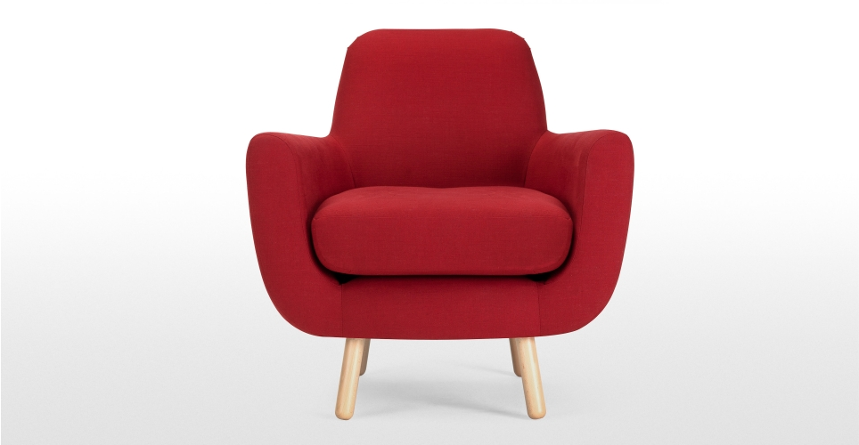 fauteuil rouge tissu
