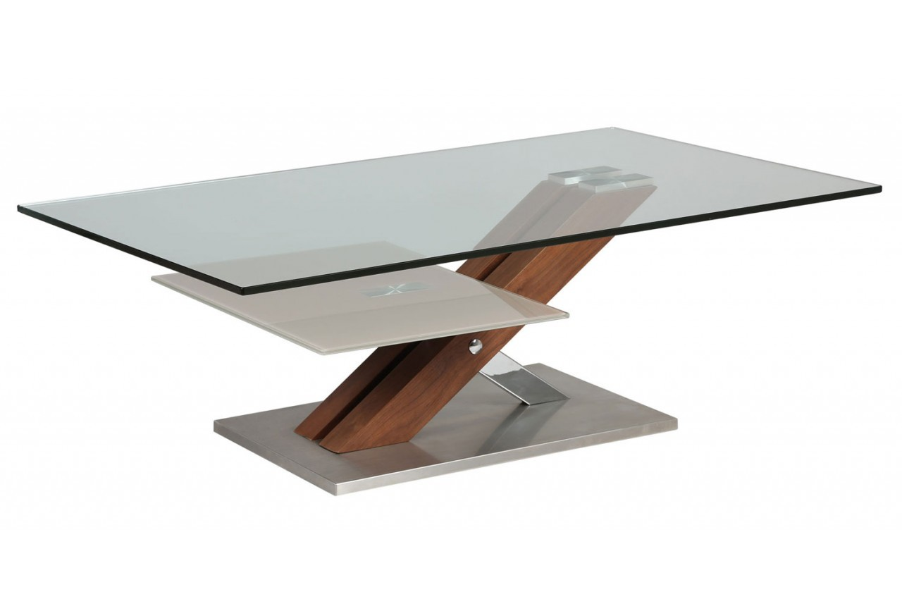 table basse moderne verre