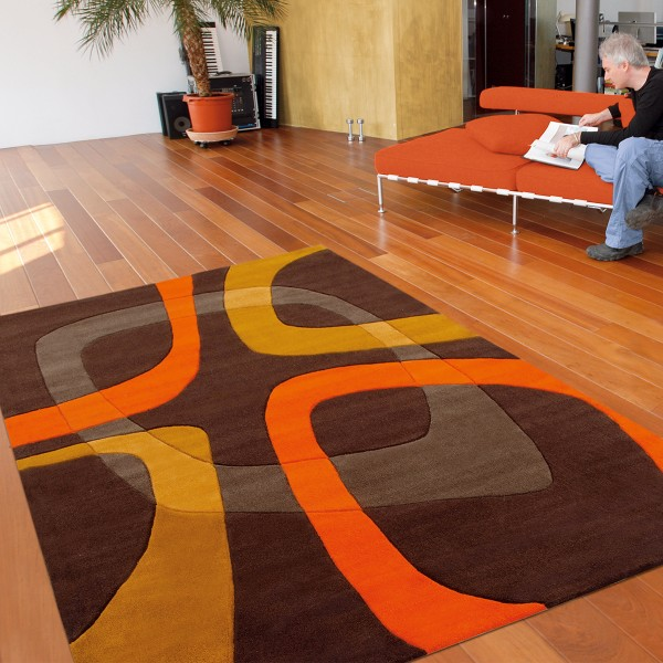 Tapis Orange Et Noir