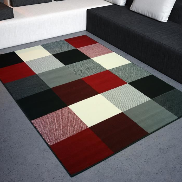 tapis rouge et noir pas cher id es de d coration. Black Bedroom Furniture Sets. Home Design Ideas