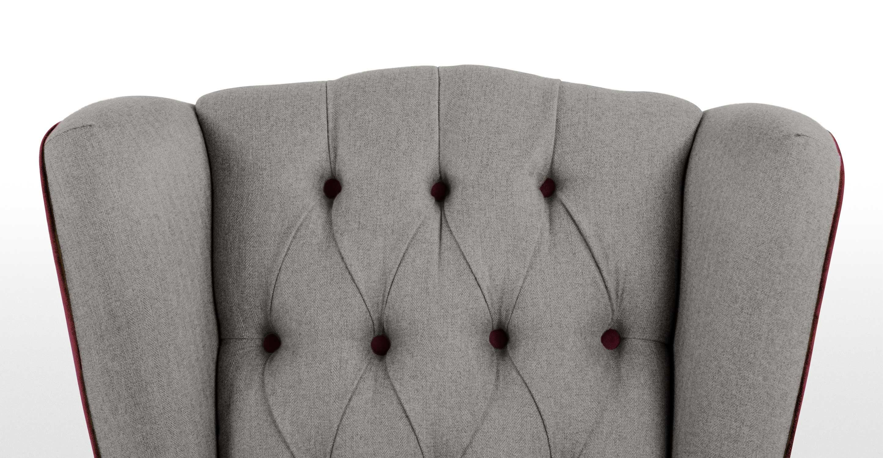 fauteuil bergere rouge