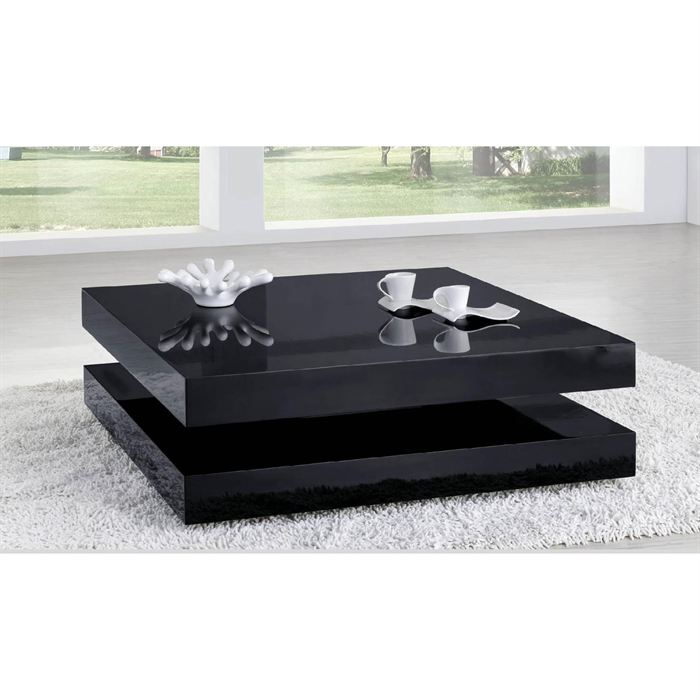 table basse laque noir