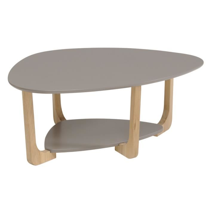 table basse ovale bois