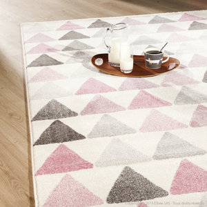 tapis rose pale