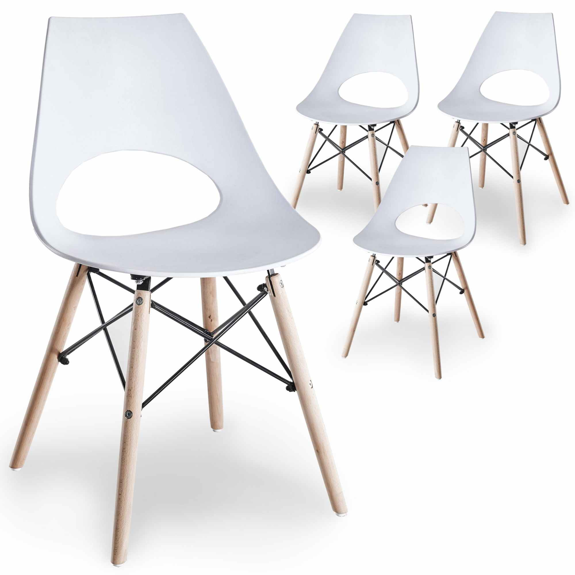 chaises blanches scandinaves