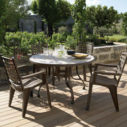Stunning Table De Jardin Ronde Grosfillex Photos - House ...