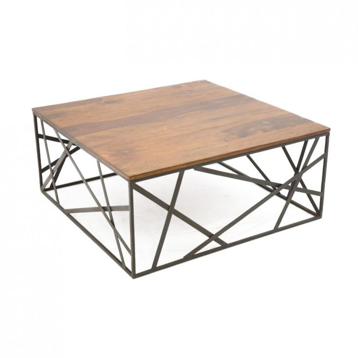 table basse bois fer