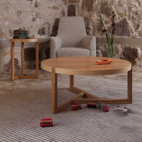 table basse bois ronde