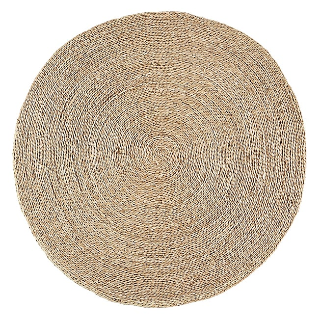 tapis rond paille