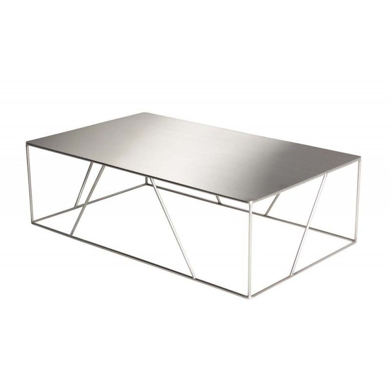table basse inox