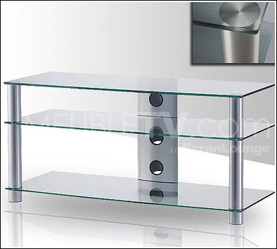table tele en verre