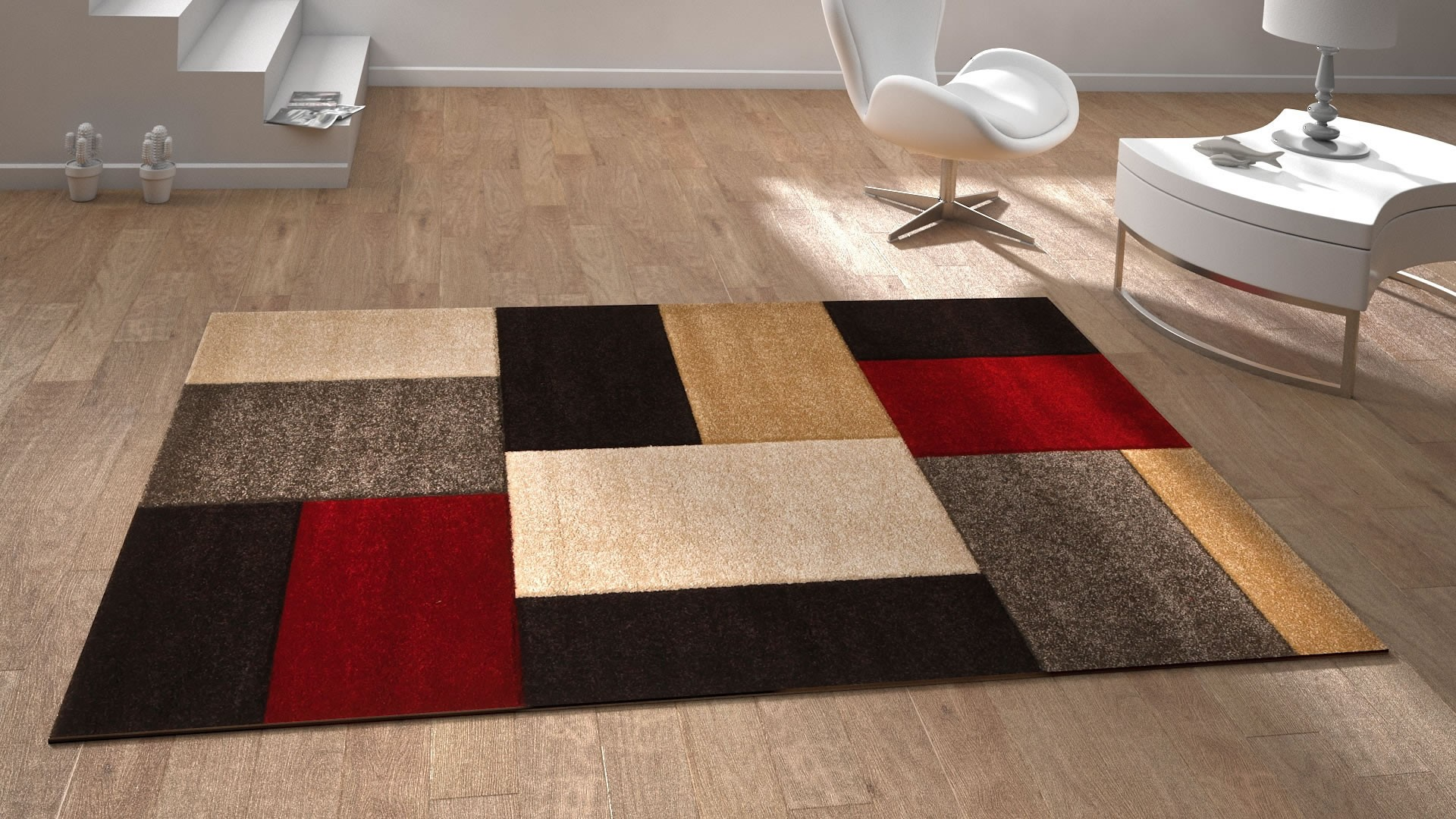 tapis contemporain salon