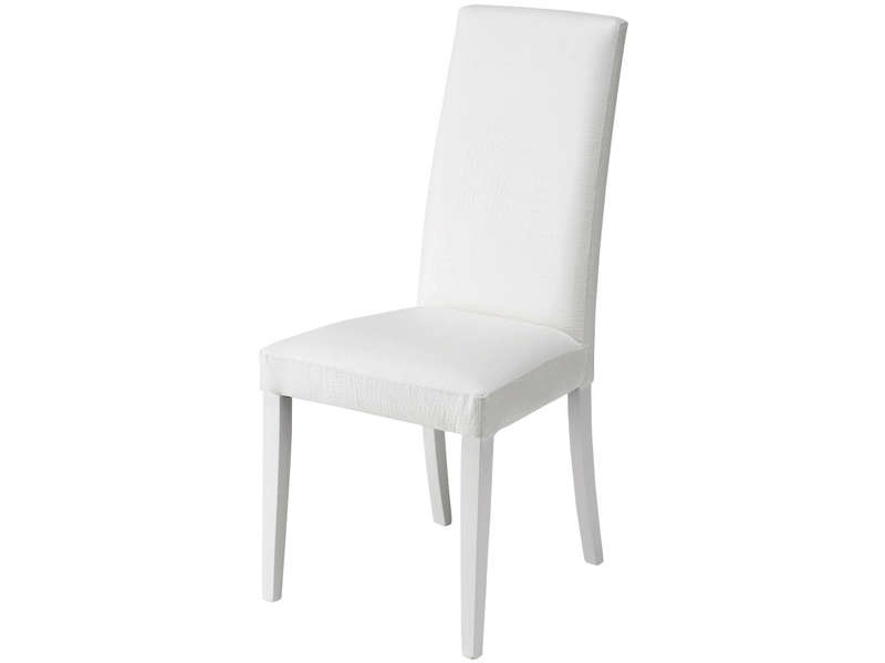 chaise blanche salon
