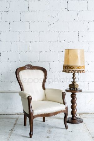 chaise retro blanche
