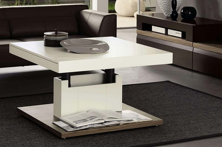 table basse blanche moderne