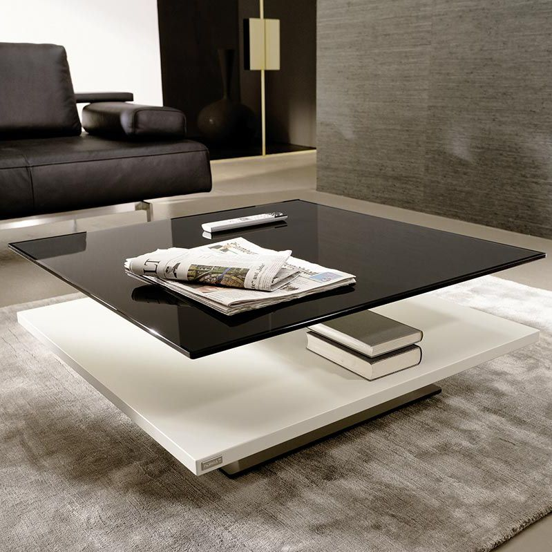 table basse blanche rectangulaire