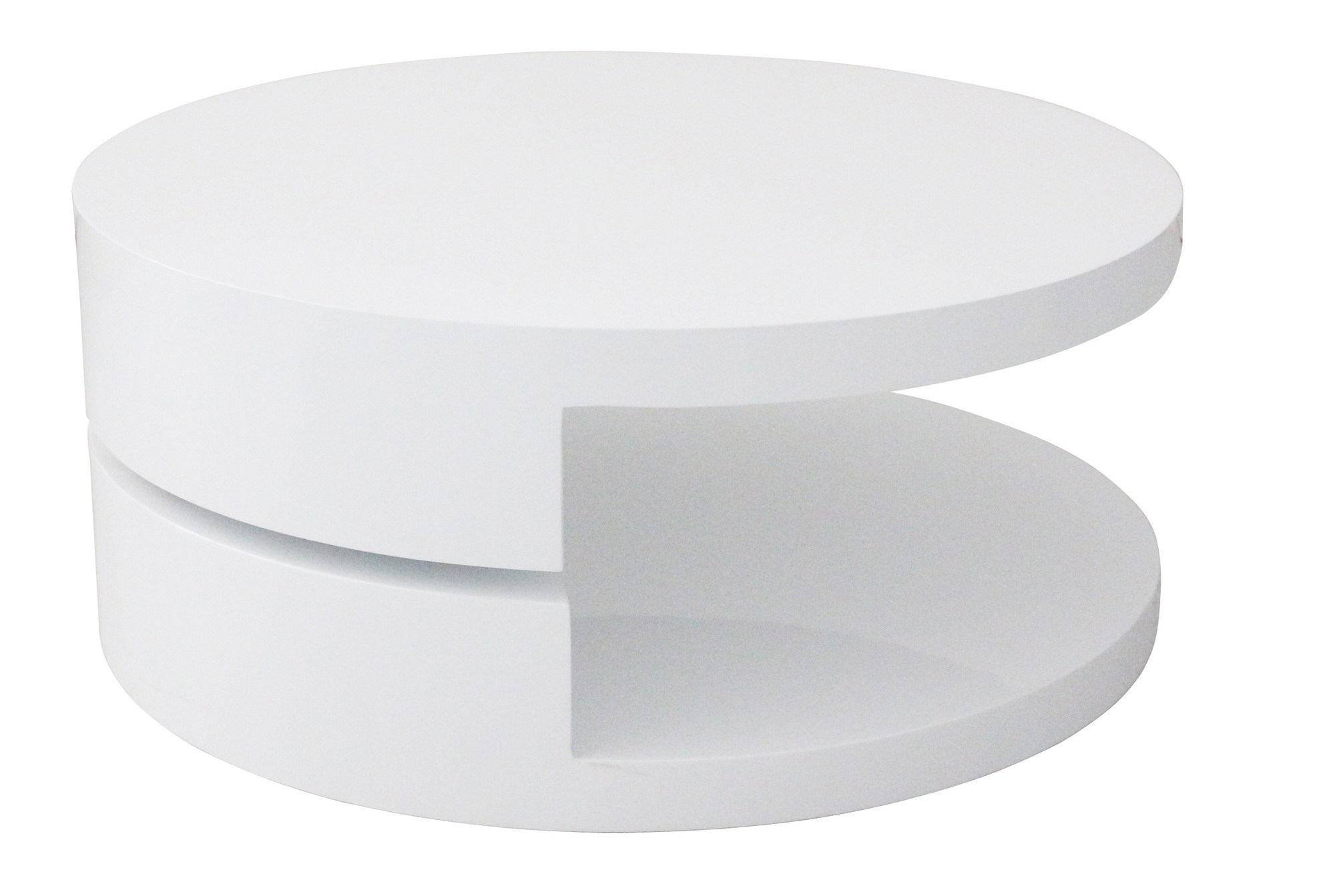table basse ronde laquée