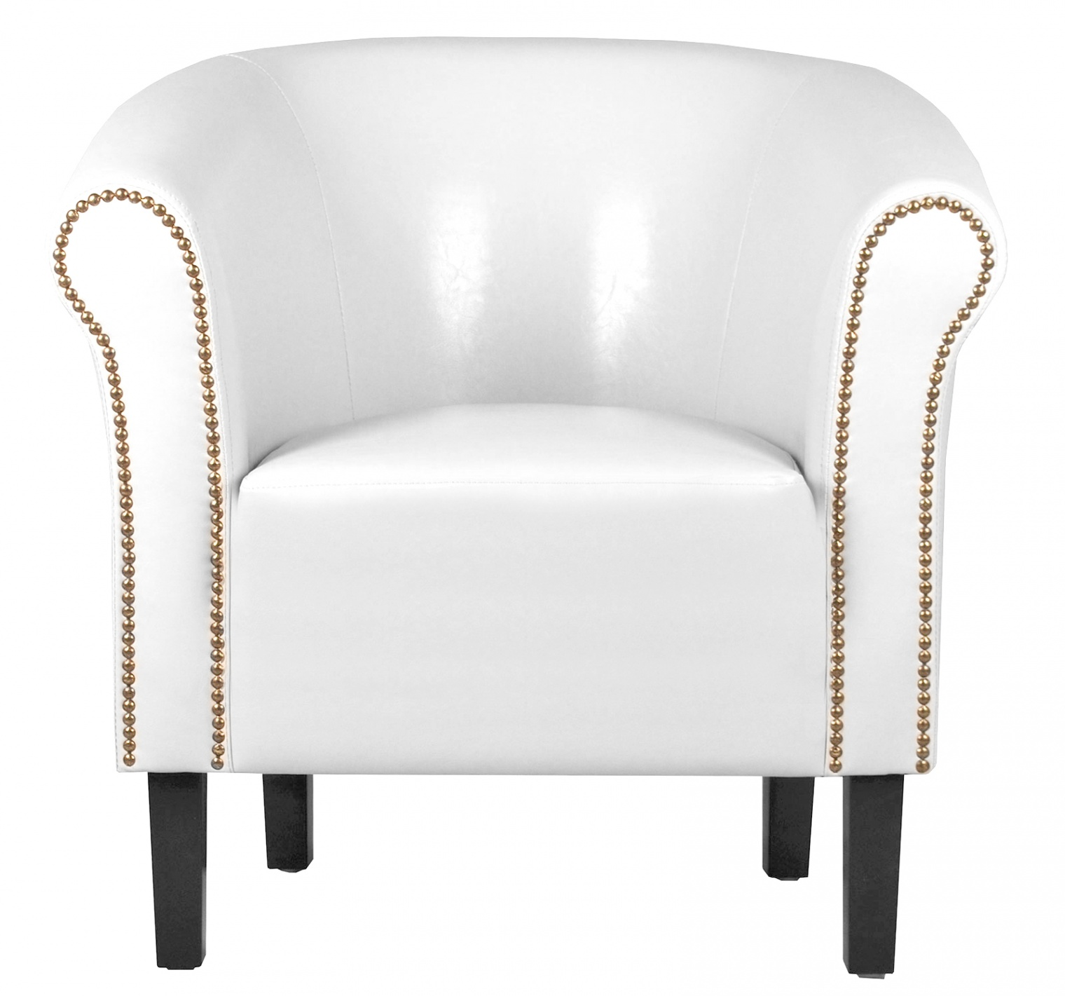 fauteuil crapaud blanc