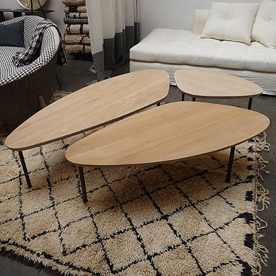 table basse bois contemporaine