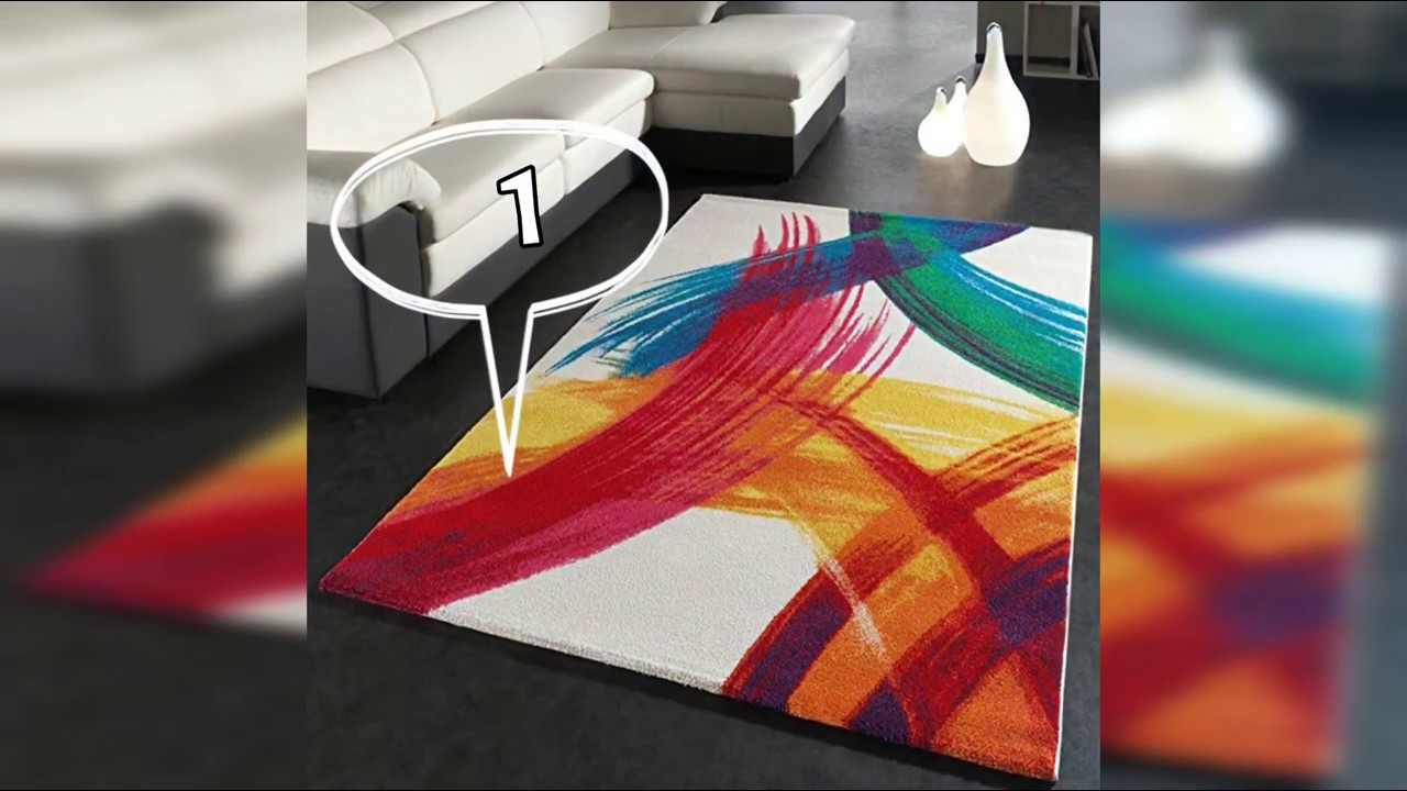 tapis de salon coloré